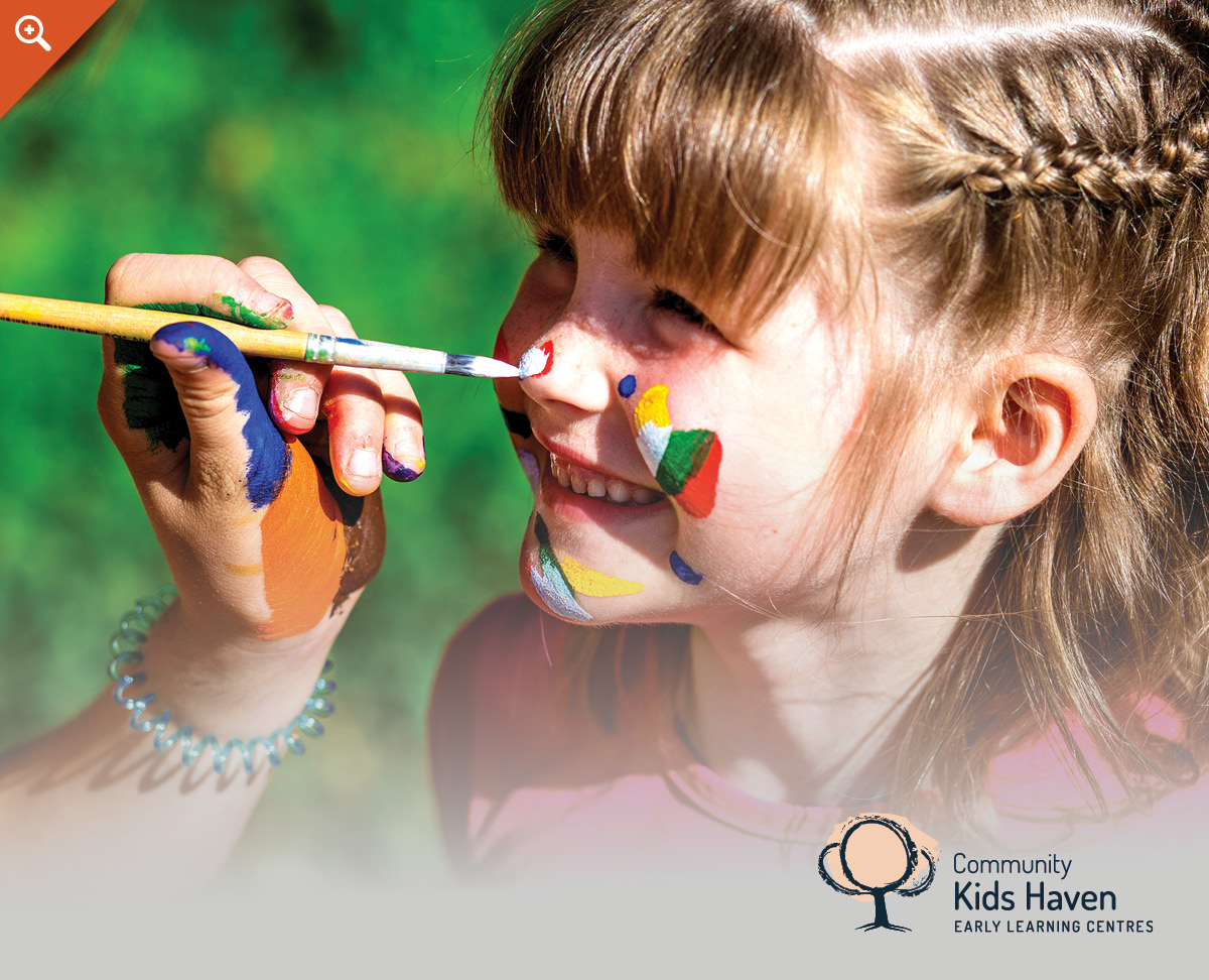 girl face painting child care design